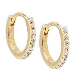 Diamond Mini Cartilage Huggie Earring 14K